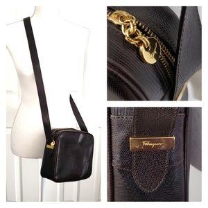 Brown vintage SALVATORE FERRAGAMO crossbody purse